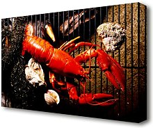 Lobster Barbeque Kitchen Canvas Print Wall Art