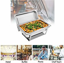 LOCGFF Chafing Dish Food Warmer Stainless Catering