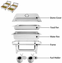 LOCGFF Food Warmers Buffet Stainless Catering Set,