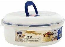 Lock & Lock - 5.5l Round Cake Carrier Storage Box - plastic - Blue/White