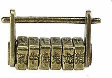 Lock Pad 1Pcs Antique Password Padlock Chinese