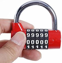 Lock Pad 5 Digit Zinc Alloy Combination Password