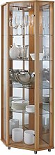 LOCKABLE Fully Assembled HOME Beech Corner Glass