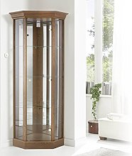 LOCKABLE Fully Assembled Home Corner Cabinet with