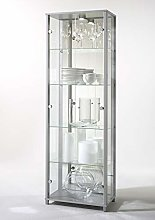 LOCKABLE Fully Assembled HOME Silver Double Glass
