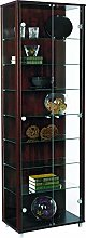 LOCKABLE Fully Assembled HOME Wenge Double Glass