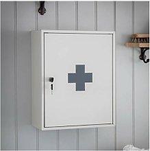 Lockable Steel Medicine First Aid Cabinet Bathroom