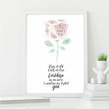 Lockdown Love Poem Wall Art Print | Perfect