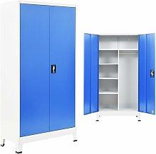 Locker Cabinet with 2 Doors Metal 90x40x180 cm