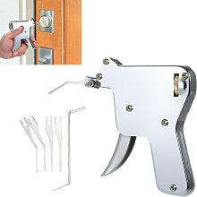 Locksmith unlocking tool set,Silver,Pack of 6