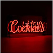 Locomocean - 'Cocktails' Acrylic Box Neon