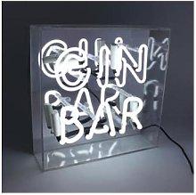 Locomocean - 'Gin Bar' Acrylic Box Neon