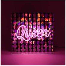 Locomocean - Queen Neon Sign With Sequins