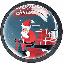Locomotive Santa Crystal Drawer Handles Furniture