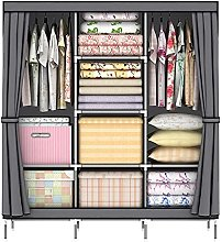 LOEFME Fabric Canvas Wardrobe T170B Gray Practical