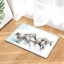 LoExTdAF River. Horse. Bathroom Floor Mats: