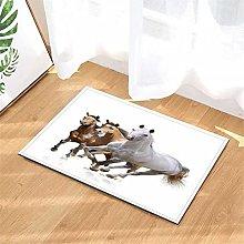 LoExTdAF Running Horse. Bathroom Floor Mats: