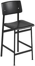 Loft Bar chair - / H 65 cm - Wood & metal by Muuto