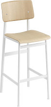 Loft Bar chair - / H 75 cm - Wood & metal by Muuto