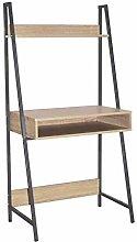 Loft Ladder Bookcase Desk with Oak Effect and Grey