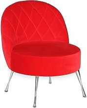 Loft Tub Chair Happy Barok Upholstery: Red