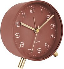 Lofty Tabletop Clock Karlsson Finish: Red