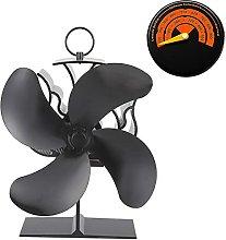 Log Burner 4 Blades Stove Fan, Heat Operated, Wood