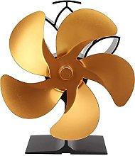 Log Burner 5 Blades Fireplace Fan, Stove Fan, Heat