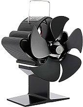 Log Burner Fireplace Fan 5 Blades, Stove Fan