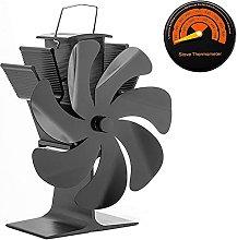Log Burner Fireplace Fan, 7 Blades Fireplace Stove