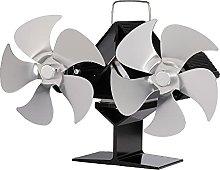 Log Burner Heat Driven Stove Fan,10 Blade