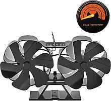 Log Burner Oven Fan with 12 Blades, Silent