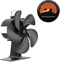 Log Burner Quiet 5 Blades Fireplace Fan,Stove Fan