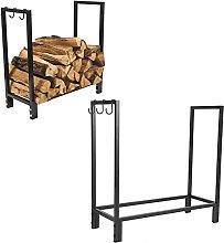 Log Rack, Fireplace Log Holder Convenient for