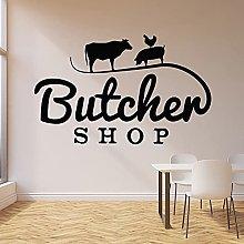 Logo Wall Decal Cow Pig Chicken Animal Livestock
