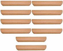 logyues 10pcs Wood Color Semi-Circular Wooden