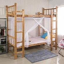 LOH Bunk Mosquito Net Canopy White Four Corner Bed
