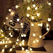 LOHAS 9M 80 LED Globe String Lights, 5V Low