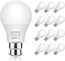 LOHAS B22 Bayonet Light Bulb, 9W GLS B22 LED Bulb,