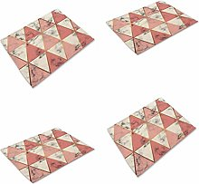 LOKIH Cotton Linen Placemats, Dog Cat Pattern