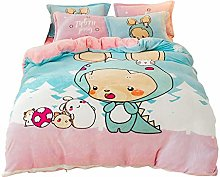 LOKKG Duvet Cover Set,Quilt Cover Bedding Kids