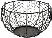 LOKOER Wire Egg Basket Metal Egg Storage Basket