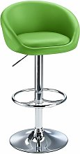 Lombardy Adjustable Bar Stool Chrome Green