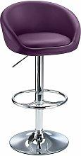 Lombardy Adjustable Bar Stool Chrome Purple