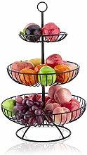 LOMOFI 3 Tier Fruit Bowl,Countertop Metal Fruit