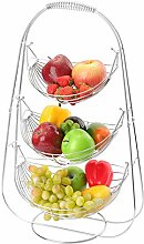 LOMOFI Fruit Basket Stand - 3 Tier Large Capacity