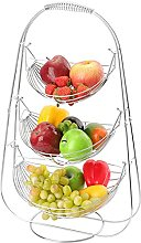 LOMOFI Fruit Basket Stand - 3 Tier Large Capacity