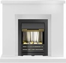 Lomond Fireplace Suite in Pure White with Helios