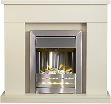 Lomond Fireplace Suite in Stone Effect with Helios