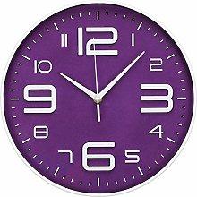 LONBUYS Purple 12 Inch Wall Clock Silent No